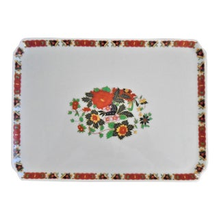 Vintage Limoges Hand Painted Tray For Sale