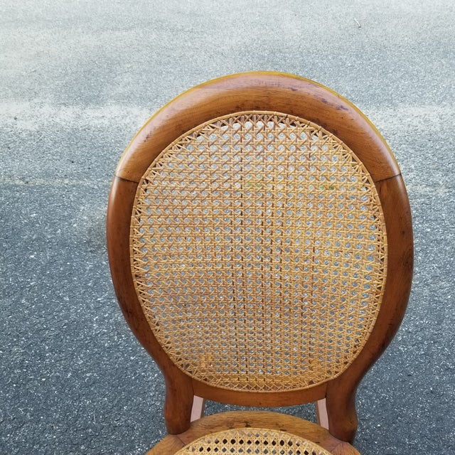 Vintage Cane Sewing Rocking Chair Children's Chair For Sale - Image 4 of 8