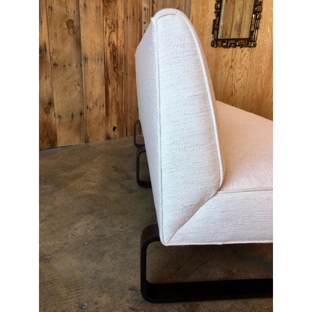 Vintage Mid Century Edward Wormley for Dunbar Slipper Sofa For Sale - Image 11 of 13