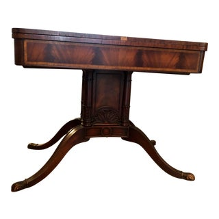 20th Century Traditional Weiman Heirloom Furniture Folding Card Table For Sale