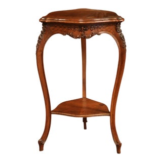 Early 20th Century Louis XV Carved Walnut Triangle Side Table From Provence