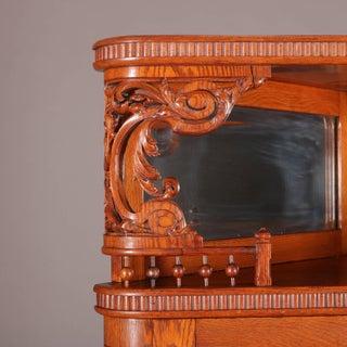 Antique R. J. Horner School Deeply Carved Stick & Ball Oak Corner China Cabinet Preview