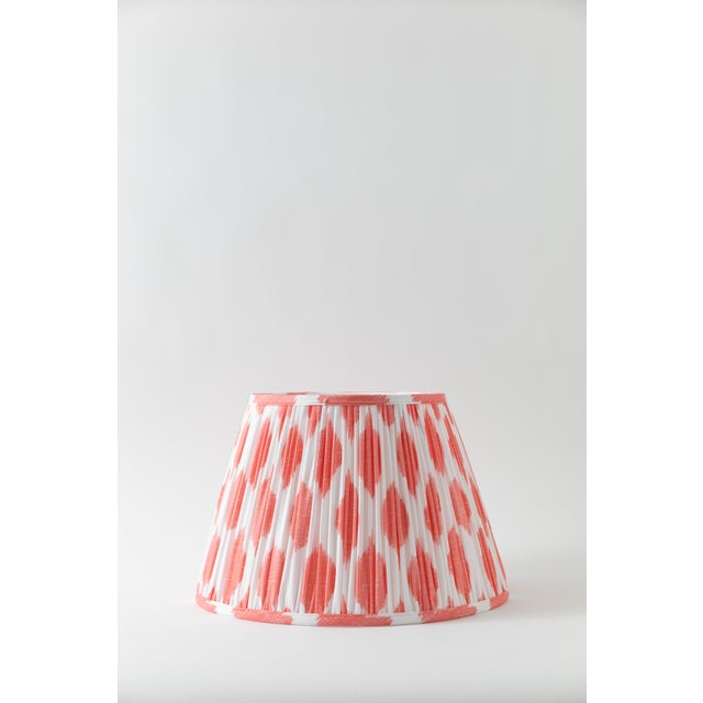 """Metal Signature Ikat in Coral 18"""" Lamp Shade, Peach For Sale - Image 7 of 7"""