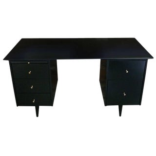 Paul McCobb Five-Drawer Pedestal Desk For Sale