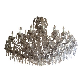 Antique Czech Glass Maria Theresa 36 Candle Chandelier For Sale