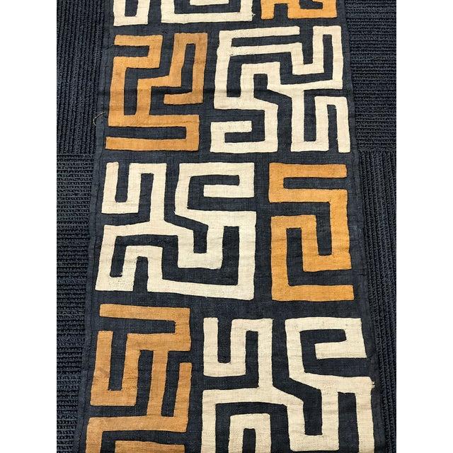Tan African Art Handwoven Kuba Cloth For Sale - Image 8 of 10