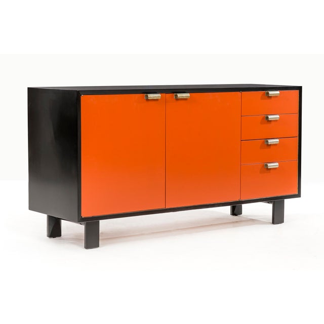 Mid-Century Modern George Nelson Orange Credenza For Sale - Image 3 of 13