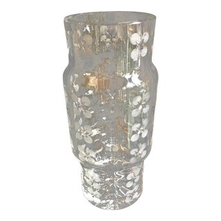 Modern Crystal Cylinder Vase For Sale