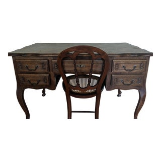 18th Century Chippendale Desk & Chair For Sale