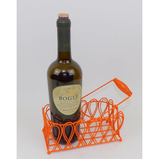 Contemporary Vintage Orange Wine Bottle Rack For Sale - Image 3 of 8