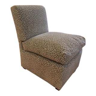 Stewart Furniture Algarve Velvet Armless Chair For Sale