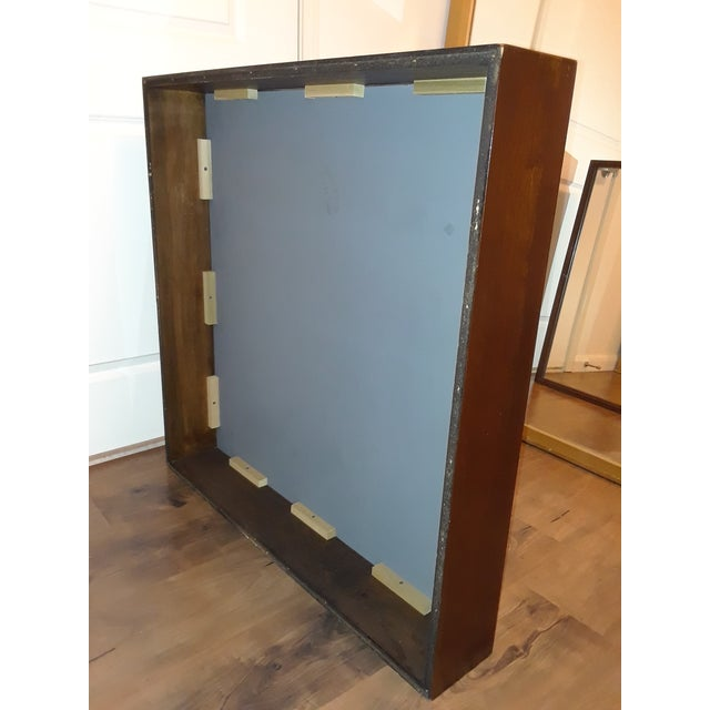 1960s Mid-Century Modern Wood Framed Mirror For Sale - Image 5 of 10