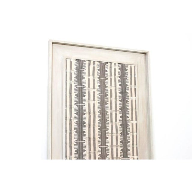1970s Framed Modernist Textile For Sale - Image 4 of 13