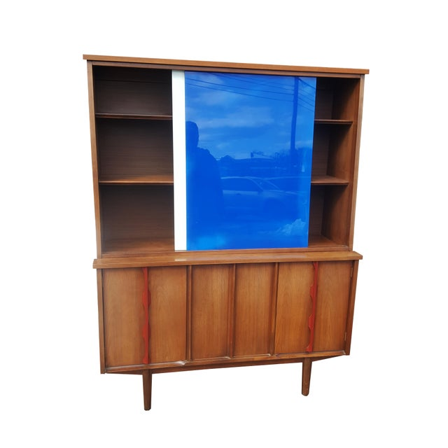 1970s Mid-Century Modern/Brutalist Display Cabinet/Hutch For Sale In Portland, ME - Image 6 of 7