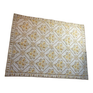 Handwoven Greek Wool Rug - 4′4″ × 5′8″ For Sale