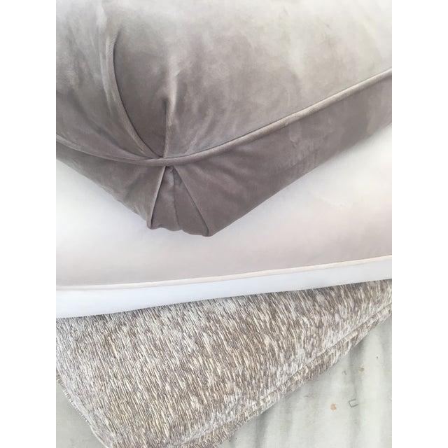 Velvet Pillow Stools - Set of 3 For Sale - Image 4 of 9