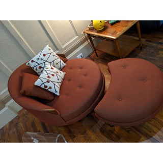 1960s Vintage Adrian Pearsall 1717 Chair & Ottoman Preview