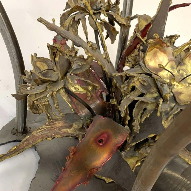 Silas Seandal Studio Brutalist Bloom Welded Bronze, Steel, & Copper Coffee Table For Sale - Image 11 of 13