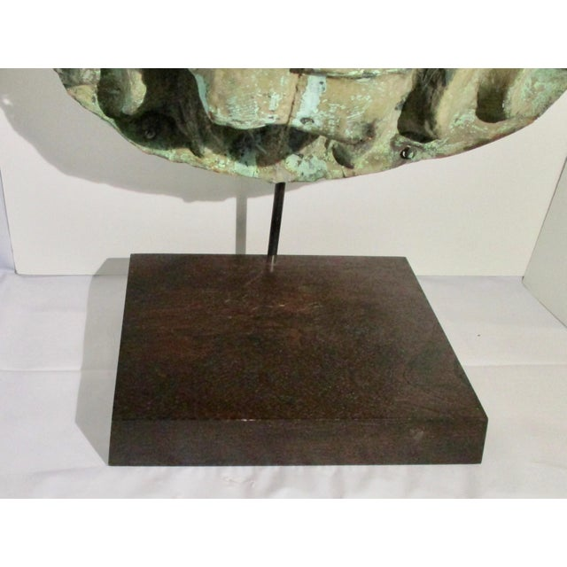 1910s Early 20th Century Vintage Copper Repouss'e Lion Statue For Sale - Image 5 of 10