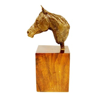 Bronze Horse by Listed Artist Una Hanbury (1904-1990)