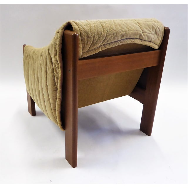 Domino 1970s Domino Mobler Danish Modern Solid Teak Lounge Chair For Sale - Image 4 of 13