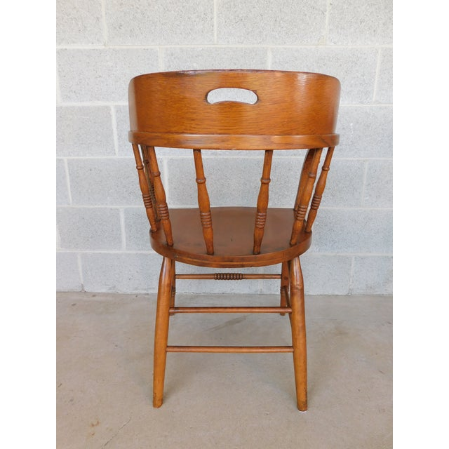 Maple Antique Barrel Back Bent Arm Captains Chairs Set of 6 For Sale -  Image 7 - Antique Barrel Back Bent Arm Captains Chairs Set Of 6 Chairish