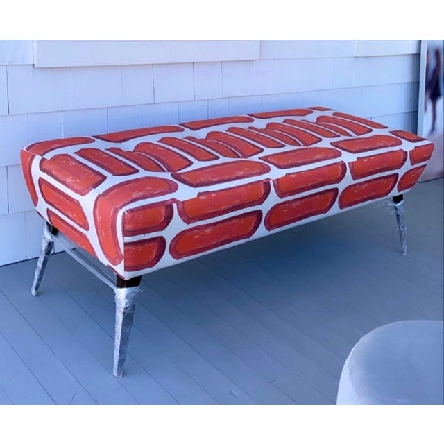 Modern Arteriors Home Mod Bench For Sale - Image 3 of 10