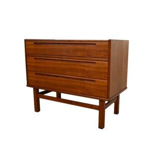 1960s Danish Modern Nils Jonsson for Torring Mobelfabrik Walnut Dressing Table For Sale