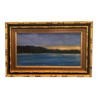 1980s Original Landscape Framed Oil Painting For Sale