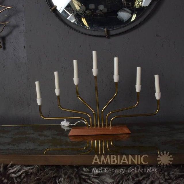 Pair of Danish Modern Menorah Table Lamps For Sale In San Diego - Image 6 of 8