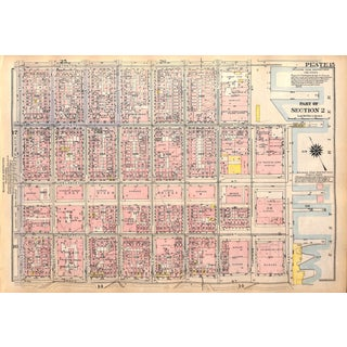 New York City Map Lower East Side Williamsburg Br., Stanton,, Broome Seward Park, Hester Streets, (Pl. 15-16) 1927 For Sale