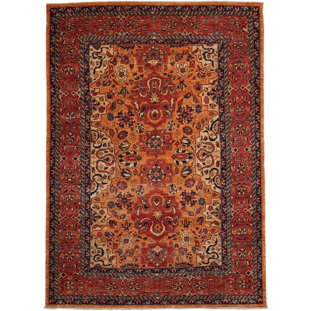 """Traditional Hand Knotted Area Rug - 5'8"""" X 7'10"""" - Image 1 of 3"""