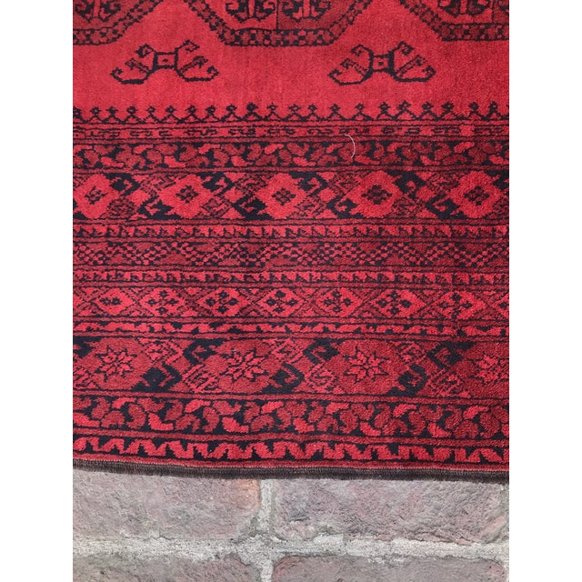 1970s Vintage Hand-Knotted Wool Rug- 6′7″ × 10′7″ For Sale - Image 5 of 13