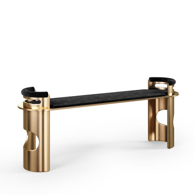 Contemporary Customizable U-Bench For Sale - Image 3 of 4