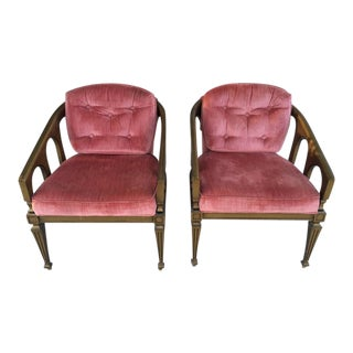 Hollywood Regency Chairs - A Pair