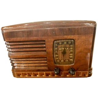 Antique Detrola Rare Fancy Wood Restored Bluetooth Tube Radio For Sale