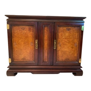 Chinoiserie Patterned Wooden Buffet Server For Sale