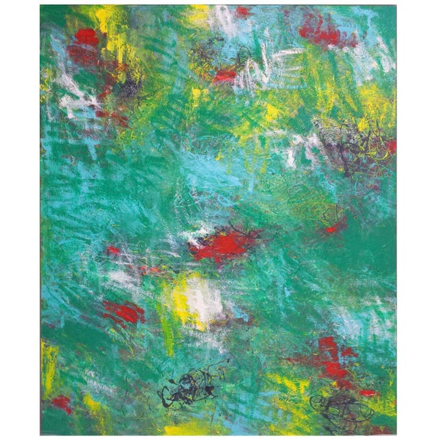 Canvas Mirtha Moreno Contemporary Abstract Oil Painting on Canvas For Sale - Image 7 of 7