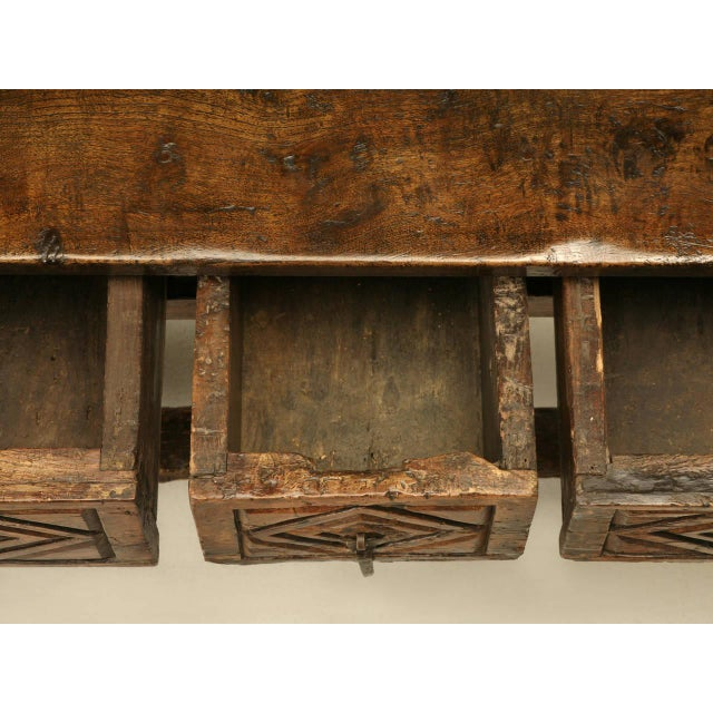 Brown Antique Spanish Colonial Table For Sale - Image 8 of 10