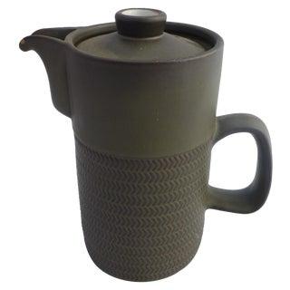 Mid Century Denby Chevron English Tea Pot For Sale