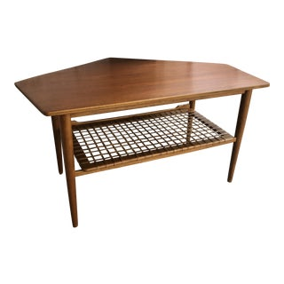 Danish Modern Teak Drop Leaf Coffee Table