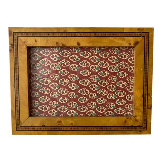 Dorvilliers Paris Picture Frame Burled Wood With Inlay For Sale