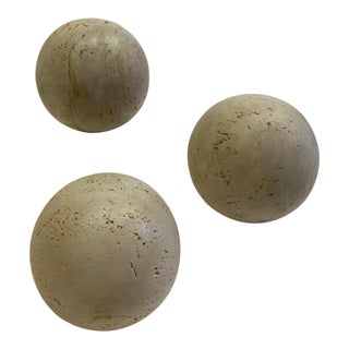 Round Italian Marble Balls - Set of 3 For Sale