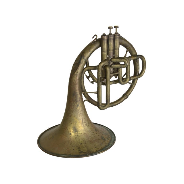 Antique French Horn - Image 1 of 3