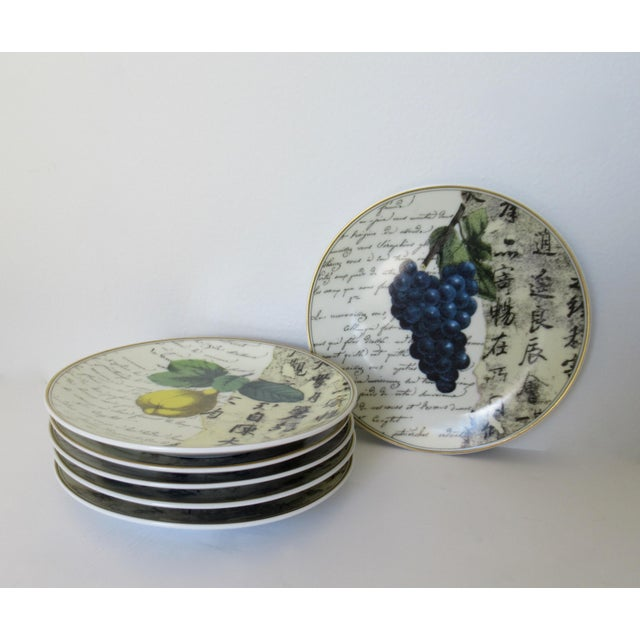 "Bernaradaud Limoges ""Peosie"" Canapé Plates - Set of 6 For Sale - Image 13 of 13"