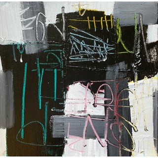 """""""Hey Maestro"""" Contemporary Abstract Acrylic Painting by Sarah Trundle For Sale"""