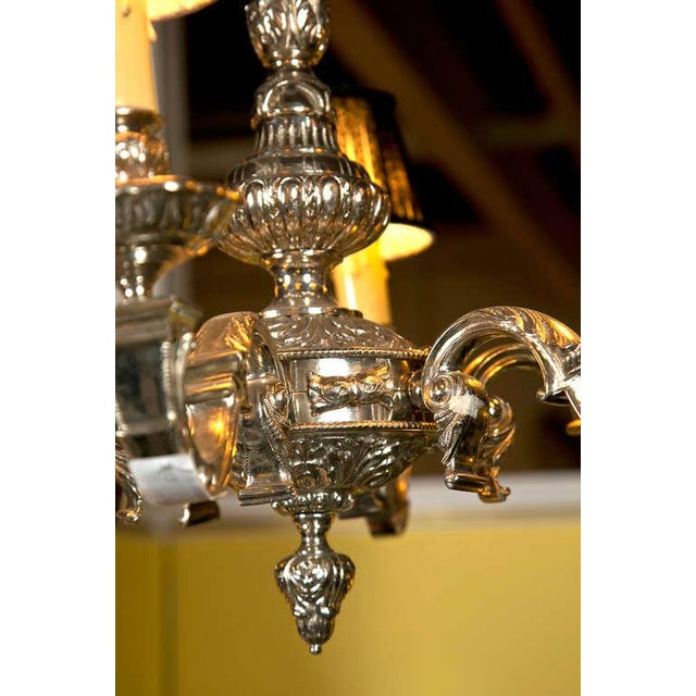 19th Century Silvered Bronze Chandelier - Image 4 of 9