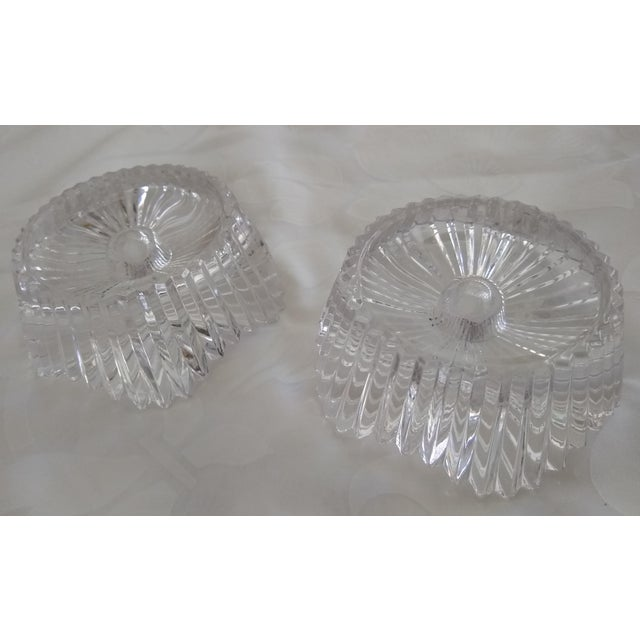 Early 20th Century Vintage Cut Glass Candleholders - a Pair For Sale - Image 5 of 7