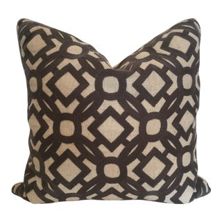 Embroidered Patterned Pillow With Feather Down Insert For Sale