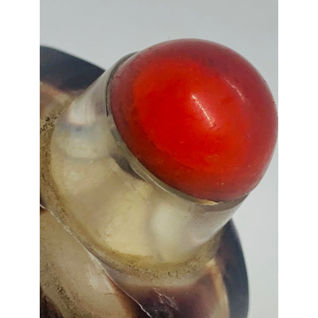 Early 20th Century Antique Carved Overlay Peking Glass Snuff Bottle For Sale - Image 9 of 12
